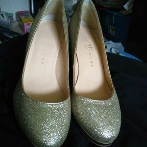 Original glitter gold Ivanka High heels